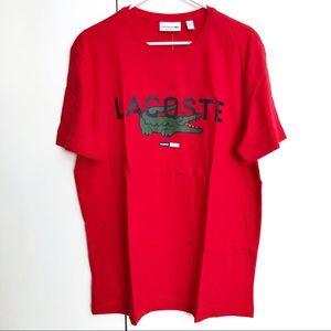 NEW LACOSTE Men's Crew Neck Cotton T-shirt